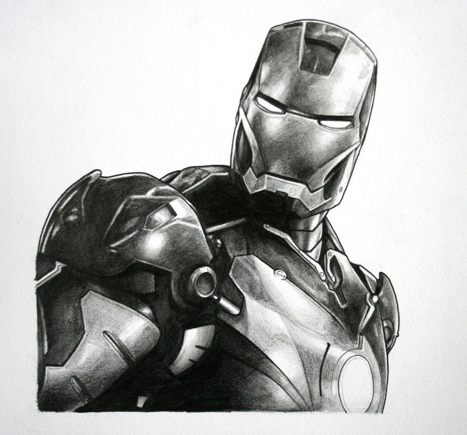 Iron man avengers original pencil drawing