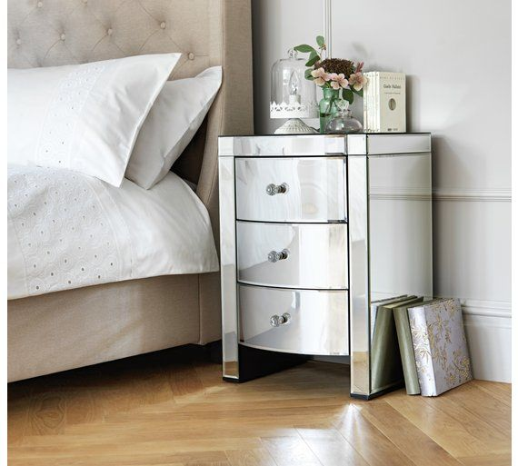 Argos Bedroom Furniture Fascinating Buy Heart Of House Canzano 3 Drawer Mirrored Bedside Chest At Decorating Inspiration
