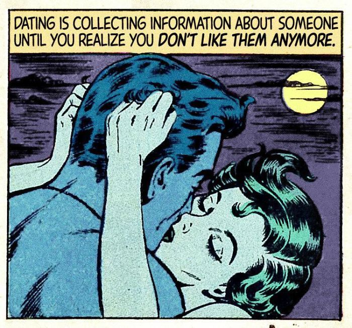 30 Vintage Comics Mashed With Disappointing Modern Love #comicbooks