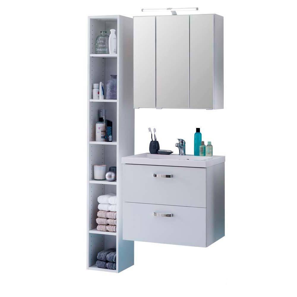 Badezimmer Kombination Mit Regal Weiß (3 Teilig) Jetzt Bestellen Unter: ...