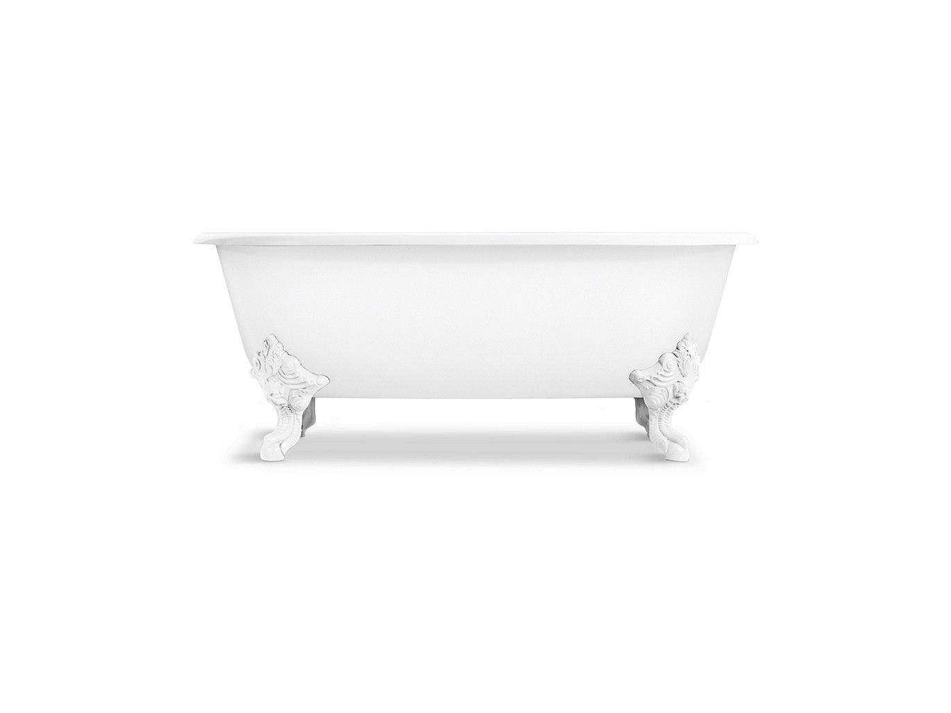 Freestanding Claw Foot Bathtub with White Exterior
