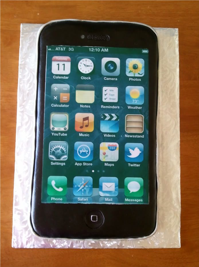 Iphone cake for Ethan Happy Birthday sweet boy I hope you can