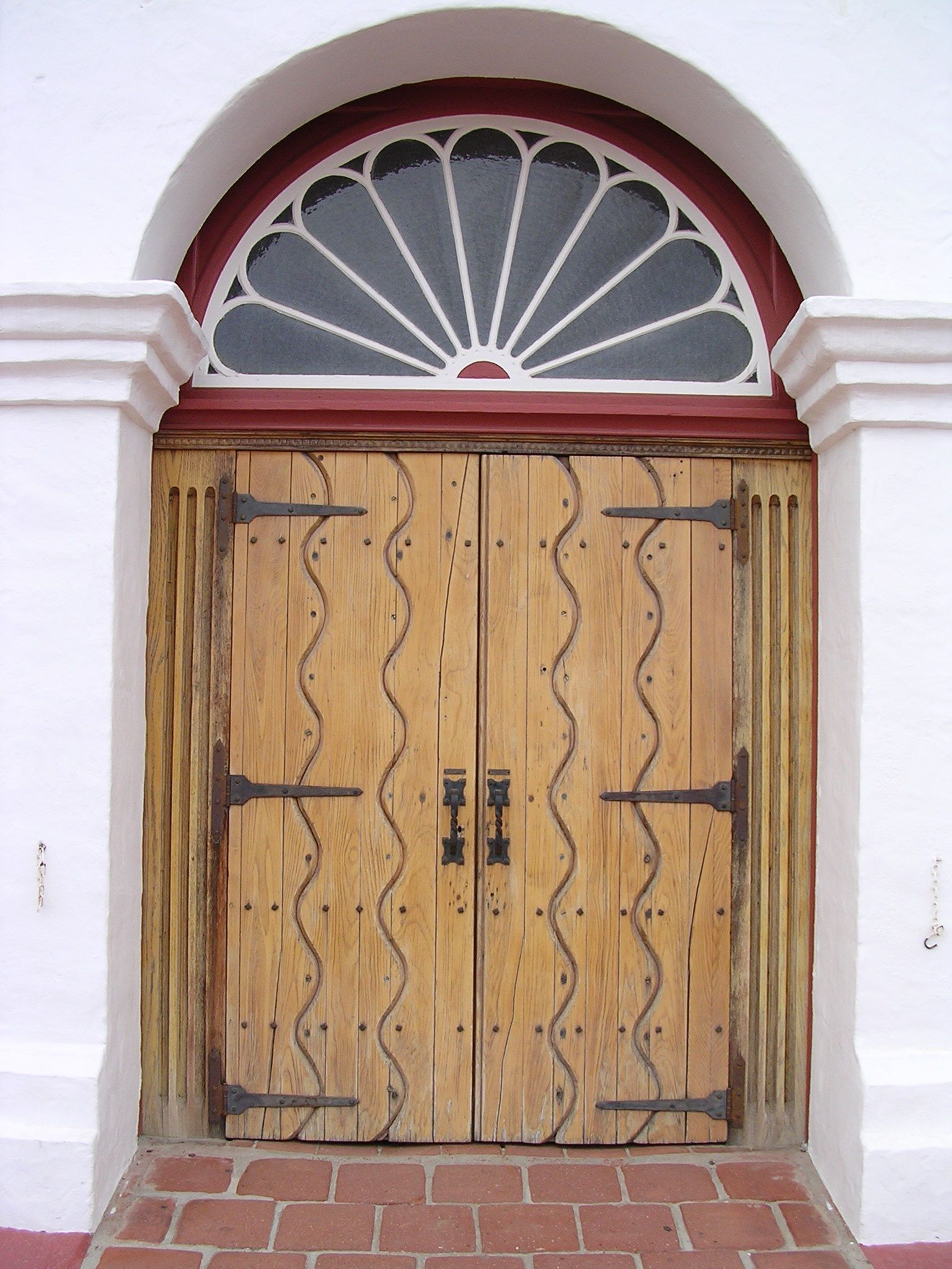Front Doors Of The Historic Church Old Mission San Luis