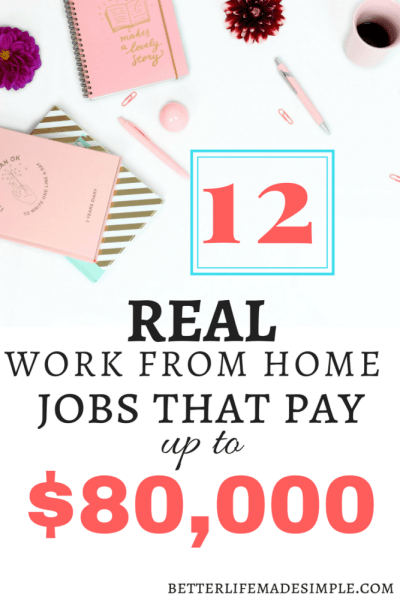 12 Real Work From Home Jobs That Make Up To 80 000 A Year Work