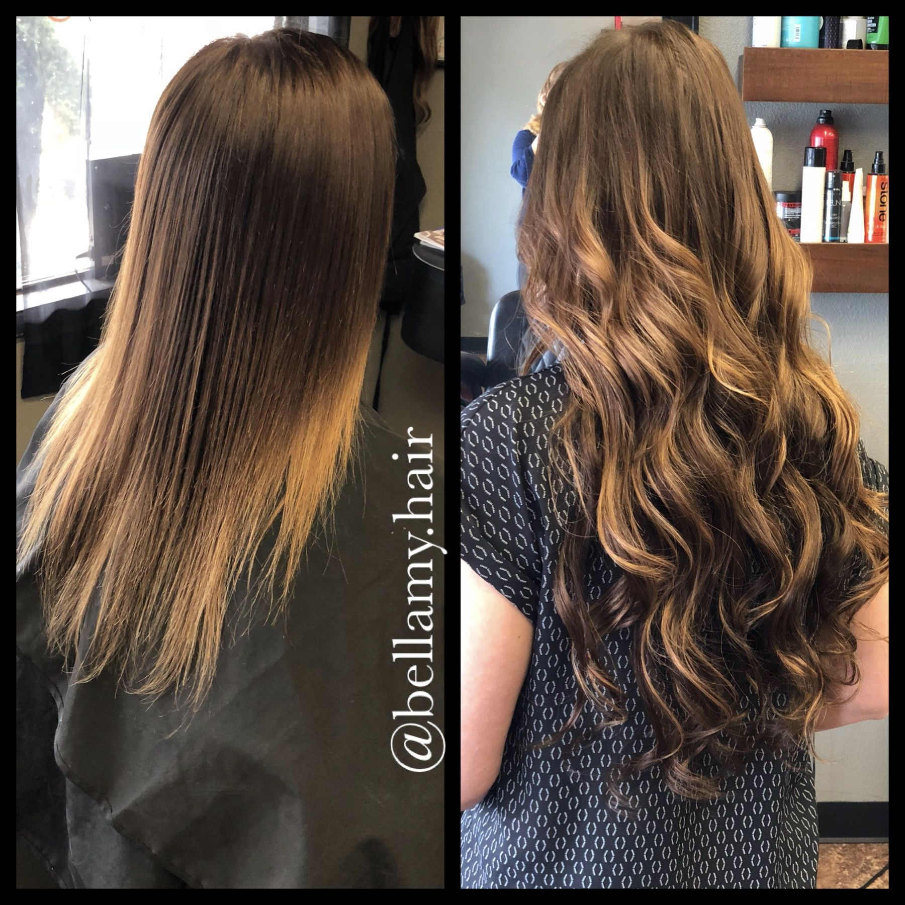 22 Inch Long Tape In Brunette Babe Extension Hair Warm Tone Blonde