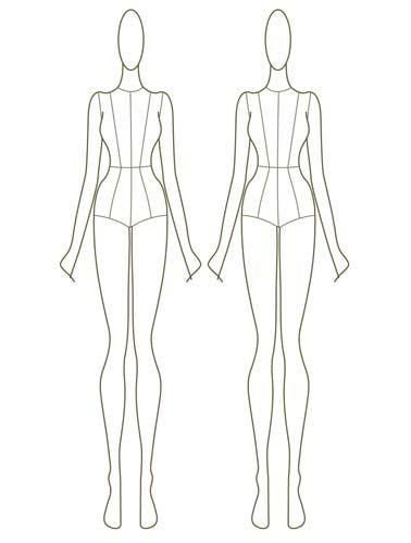 Amazon Com Project Runway Fashion Design Sketch Portfolio Toys スタイル画 スタイル 画