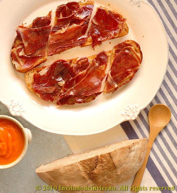 The Winter Guest Magras Con Tomate A Tapa Of Spanish Ham On Tomato Sauce Tomato Sauce Serrano Ham Ham
