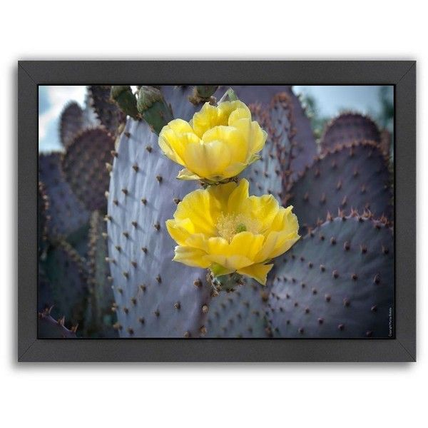 Americanflat \'\'Purple Prickly Pear Cactus Blossoms 2\'\' Framed Wall ...