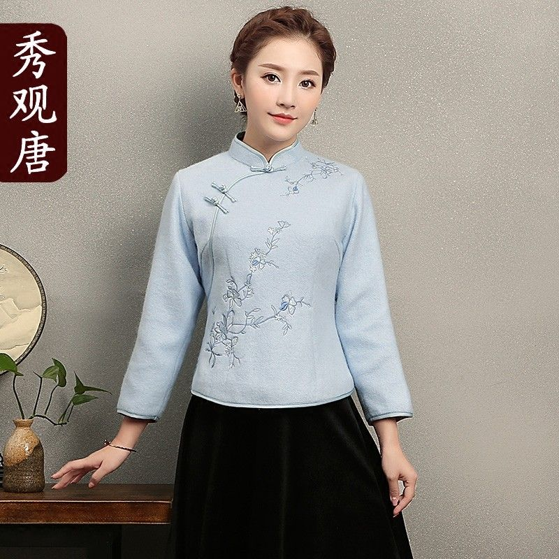 49081ee52 Adorable Mandarin Collar Frog Button Chinese Jacket - Chinese Jackets &  Coats - Women