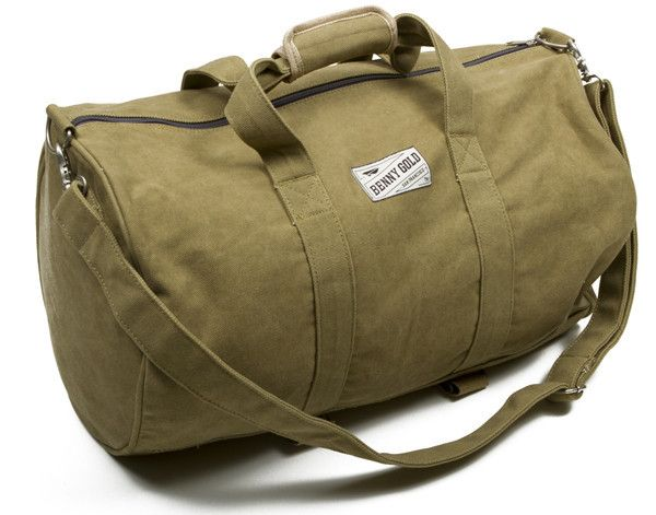 Benny Gold Large Canvas Duffle Bag
