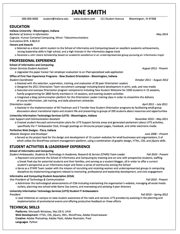 Example Of Cv Enchanting Sample Resume Cssa  Httpexampleresumecvsampleresumecssa .