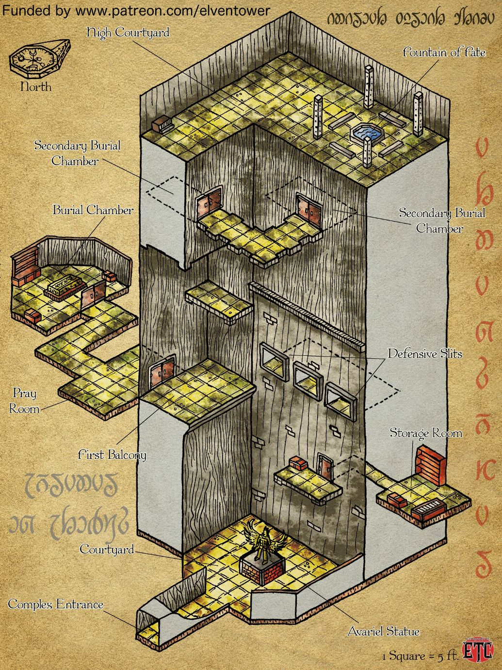 Map69.Map 69 Avariel Complex D D Inspiration Dungeon Maps Fantasy
