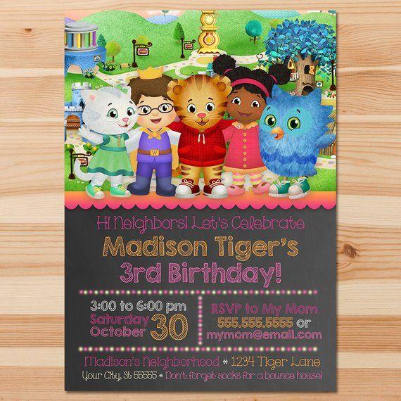 Daniel Tiger Birthday Invite