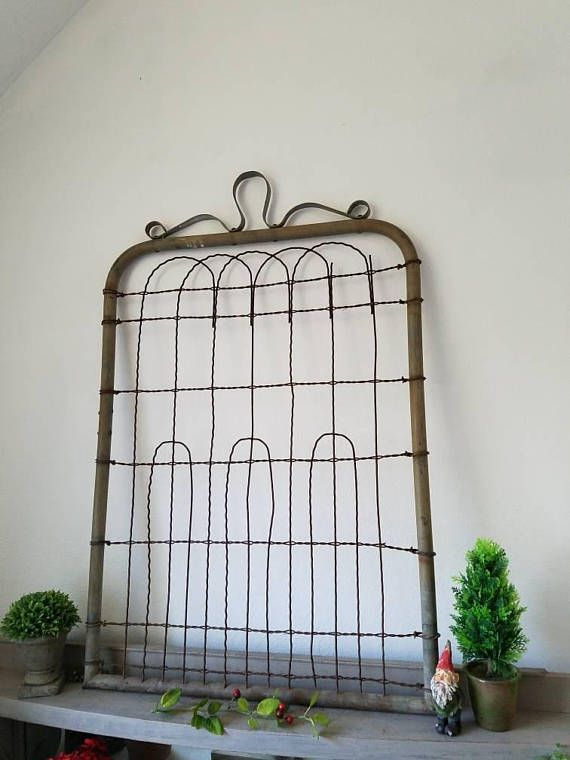 Charmant RESERVED For Whitney Rusty Metal Garden Gate Full Size Wall Hanging Home Or Garden  Decor Send Zip Code For FEDEX Quote | Antiques Are My Favorite ...