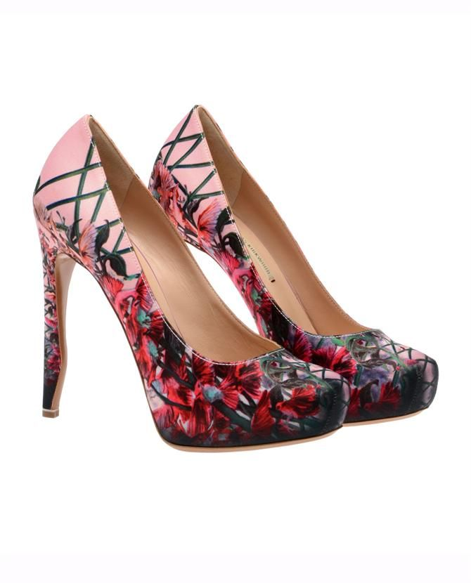 Fashion, Floral Heels