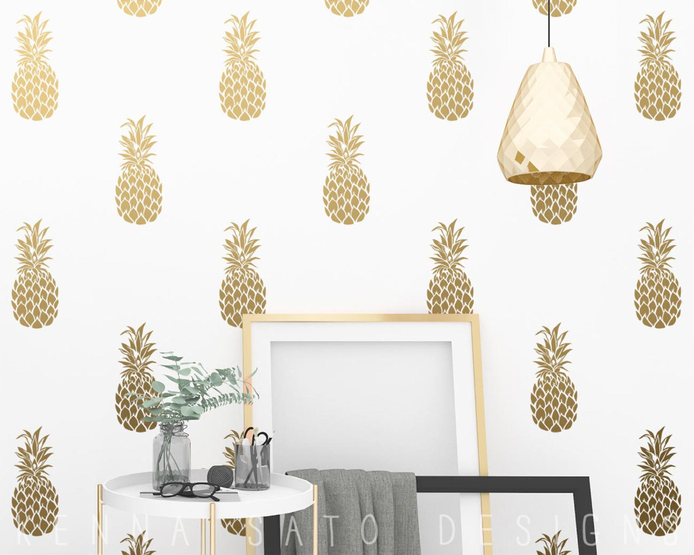 Pineapple Decals Pineapple Decor Wall Decor Gift For Her Gift