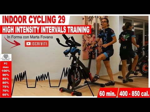Indoor Cycling Workout - HIIT High Intensity Intervals Training - Lezione Spinning 60 min - 29