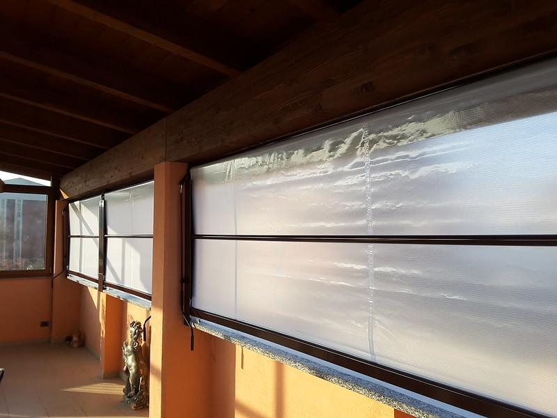 Chiusura completa balcone con tenda veranda invernale
