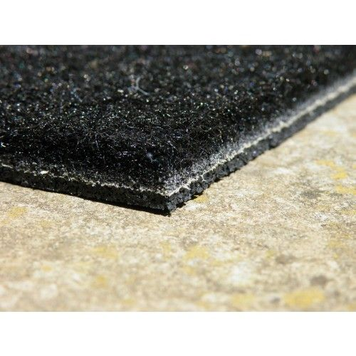 Made To Measure Superior Grade Black Ultra Thin Coir Synthetic Matting   Door  Mat Well   Home Entrance Mats
