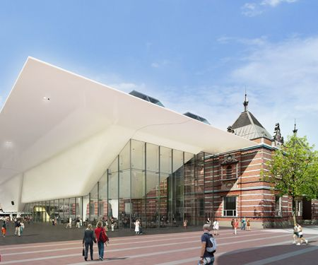 The new Stedelijk Museum in Amsterdam (contemporary art
