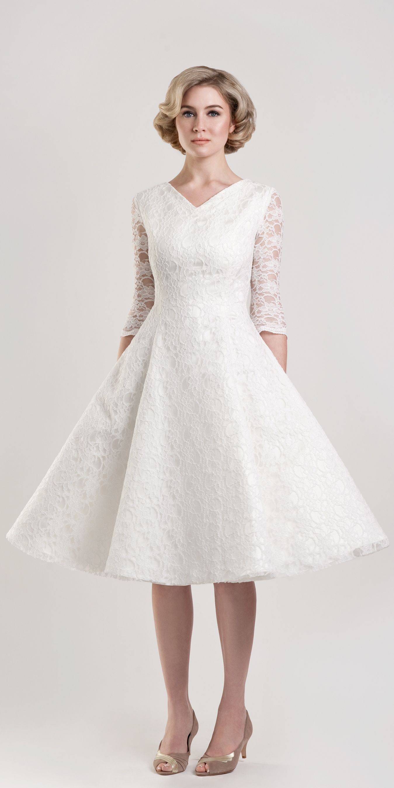 20 Tea Length Wedding Dresses Ideas