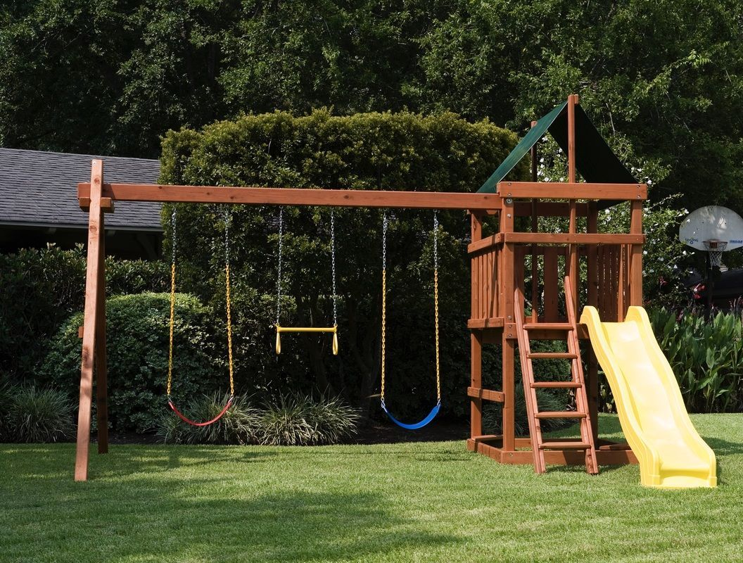 How To Build Diy Wood Fort And Swing Set Plans From Jack S Backyard