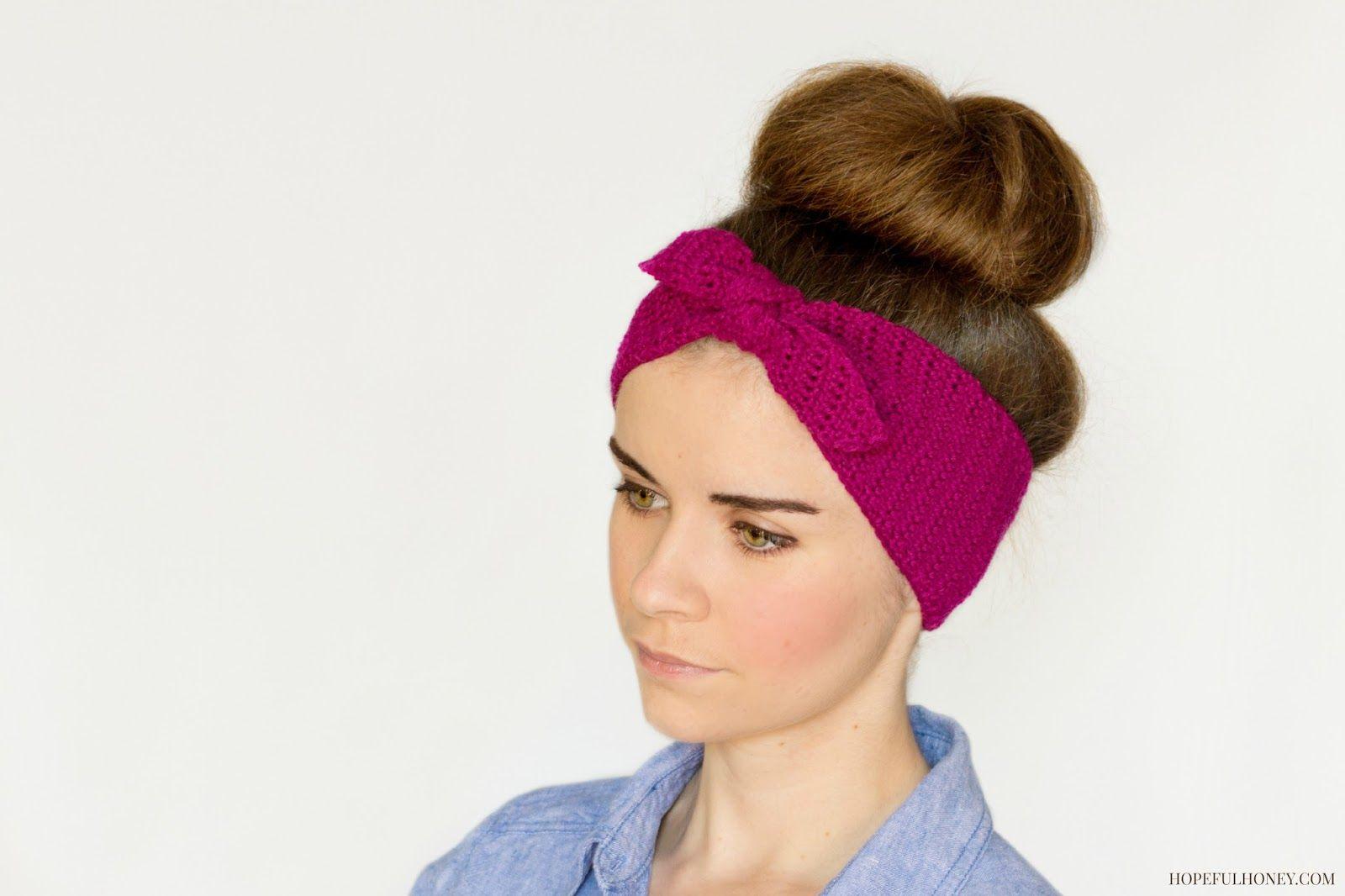 Retro Pin-Up Headband Crochet Pattern | Gorros, Tejido y El cabello
