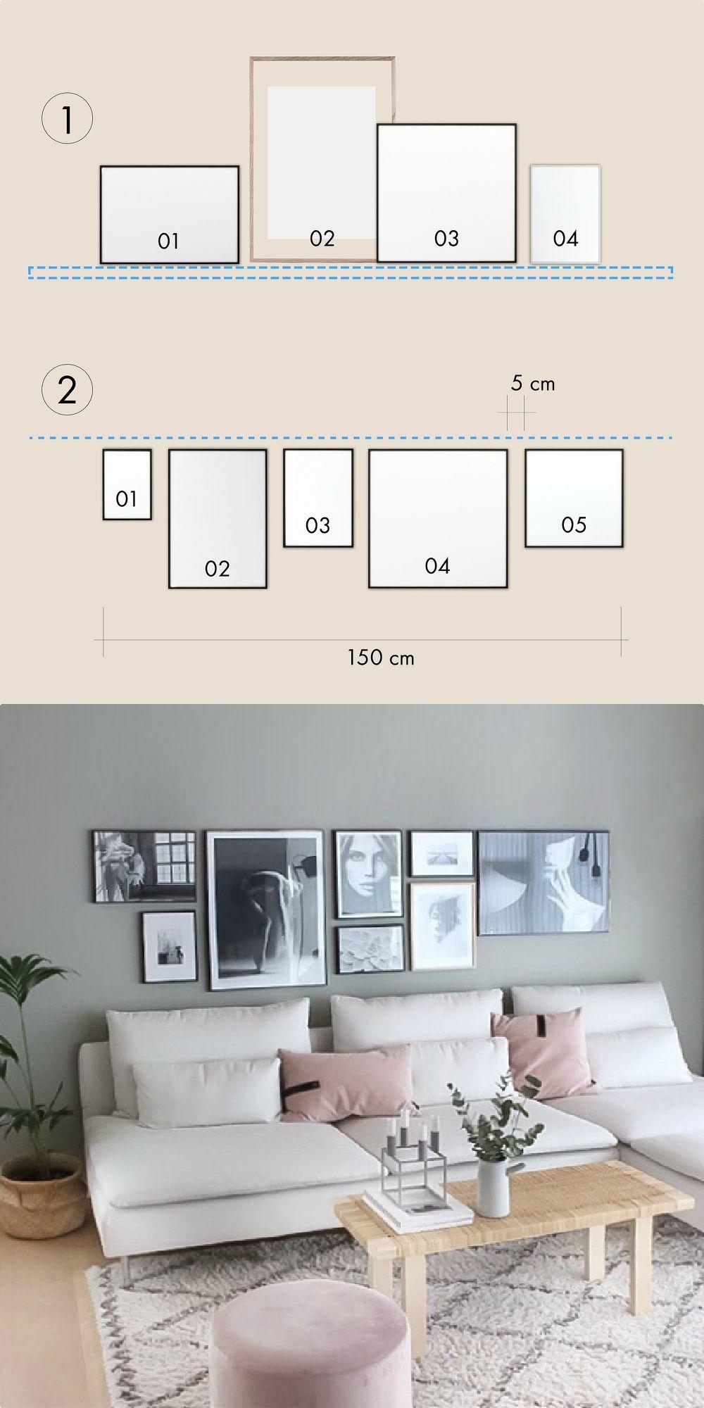 Bilder Aufhängen So Geht S Richtig Wohnzimmer