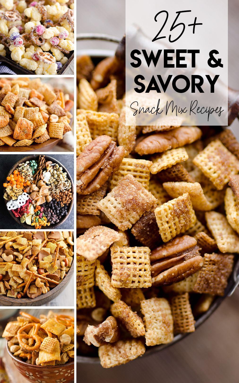 Sweet & Savory Snack Mix Recipes are perfect for a game