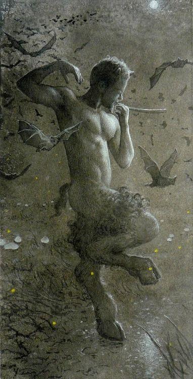 Prancing Pan Mythology Faunes Silènes Satyres Dieu