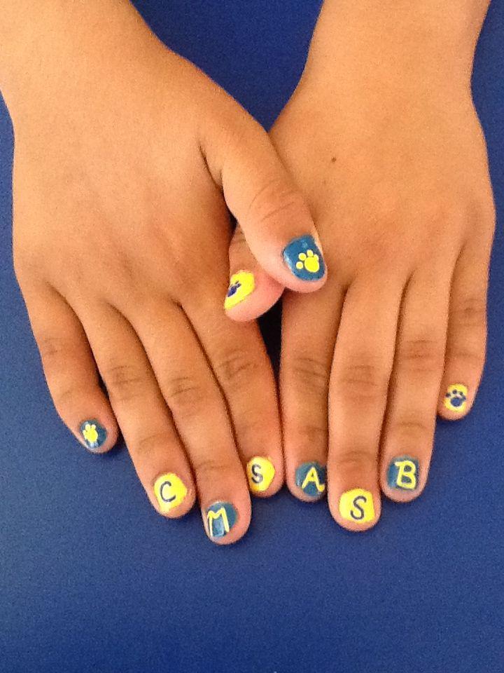 Pin by Rita Loves Nail Art on team spirit nails | Spirit