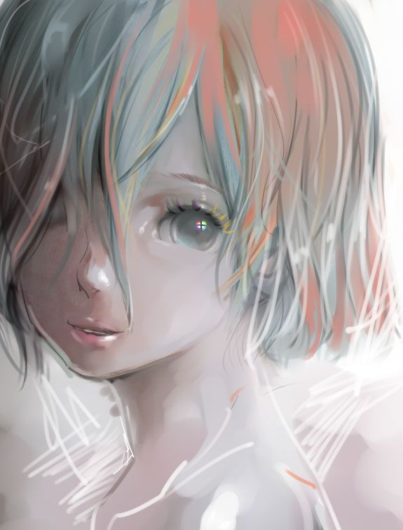 Tags Anime Lipstick Bob Cut Akisake Pink Lips Streaked Hair - Anime bob hairstyle