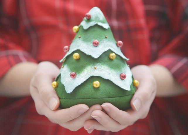 Tannenbaum zum Selbstfüllen Beutel Weihnacht Filz von Canufactum auf DaWanda.com