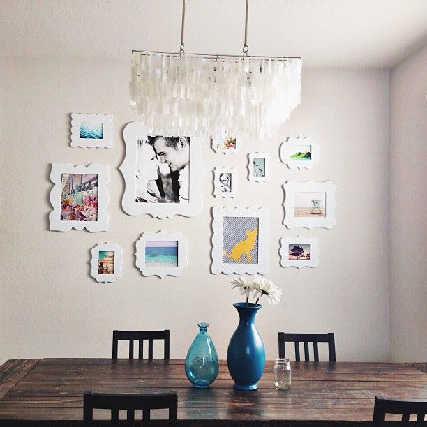 Dining Room Wall Collage With Cut It Out Already Frames