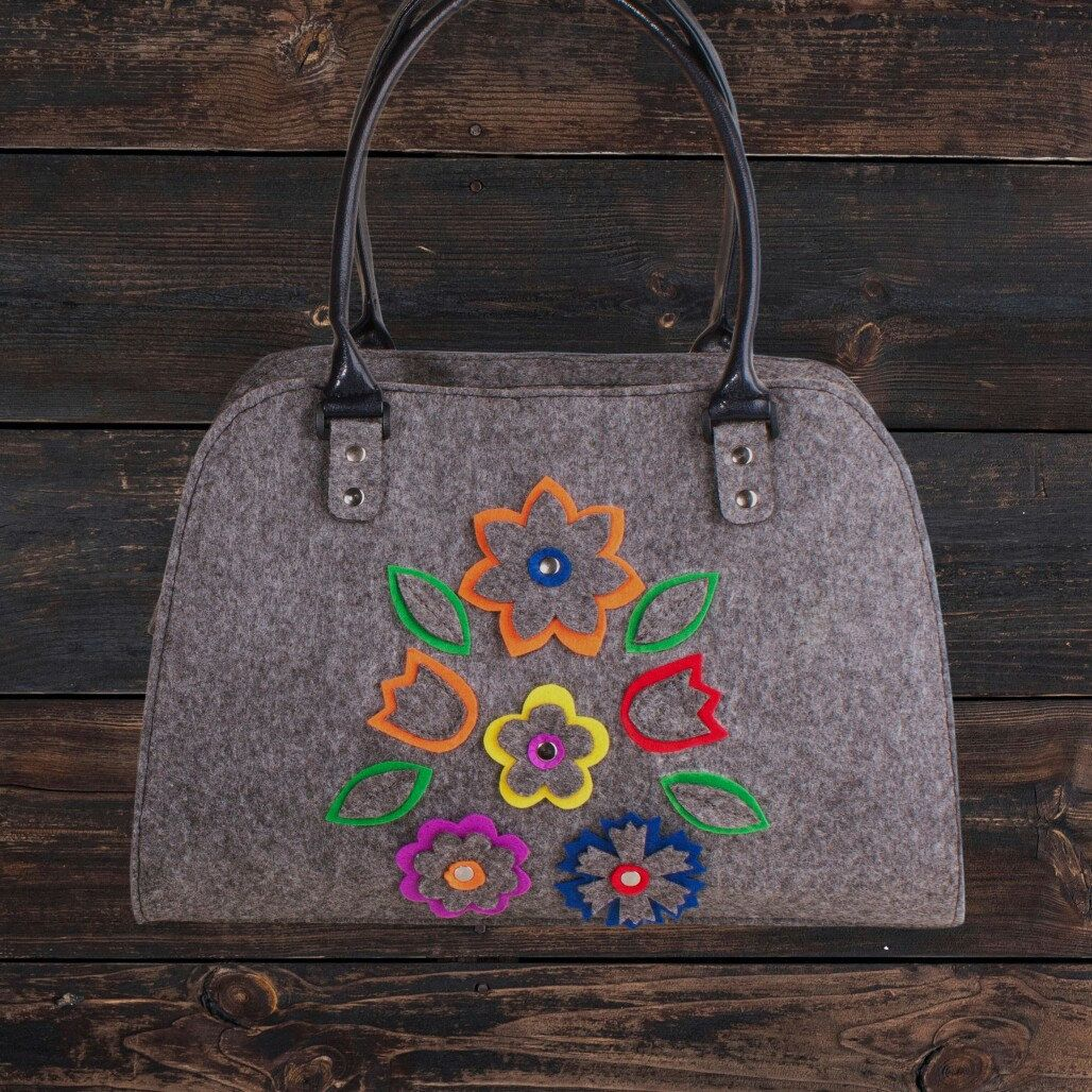Felt Purse Felt Handbag Women Purse Shoulder Bag Everyday Handbag