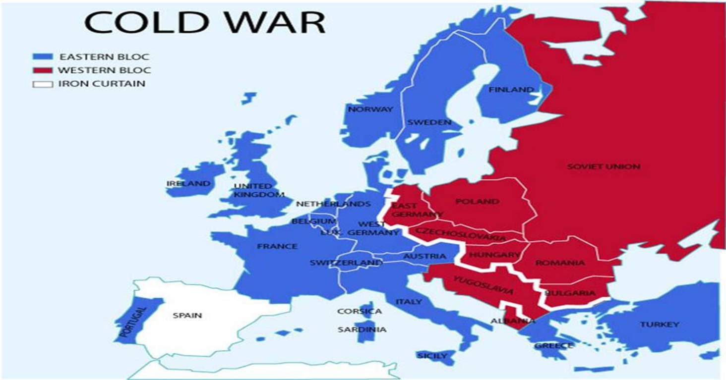 Map Of Germany During Cold War.Map Of Europe During Cold War Iron Curtain Flisol Home
