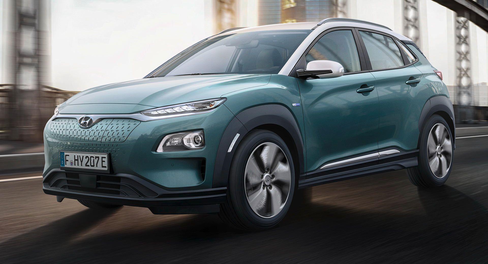 Hyundai Kona Electric Has 204 Horses And Up To 292 Miles Of Range Hyundai Electric Cars Electricity