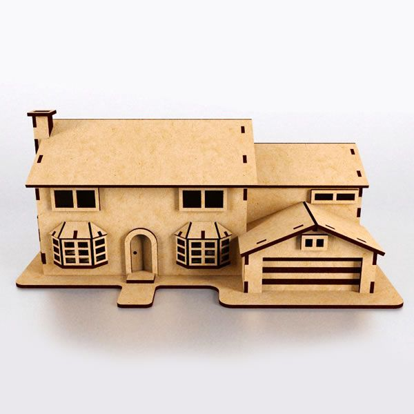 Simpsons house paper model