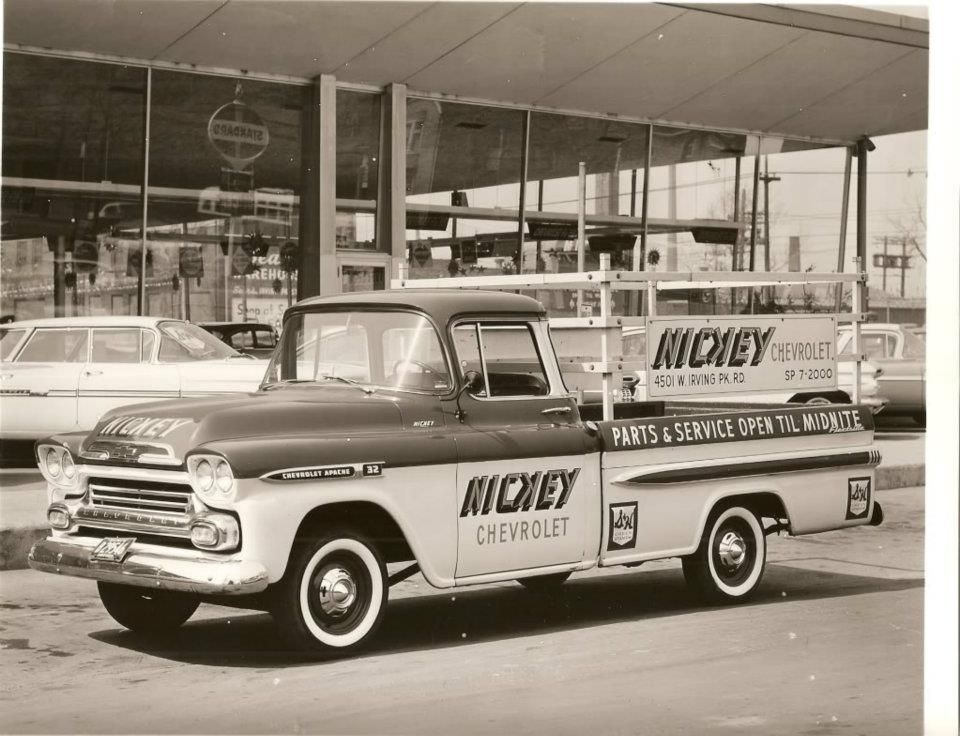 1959 Nickey Chevrolet This Would Be Quite A Performance Car Center In The 60 S Photo Is Of A 1959 Chevrolet Fle Chevrolet Dealership Chevrolet Dealership