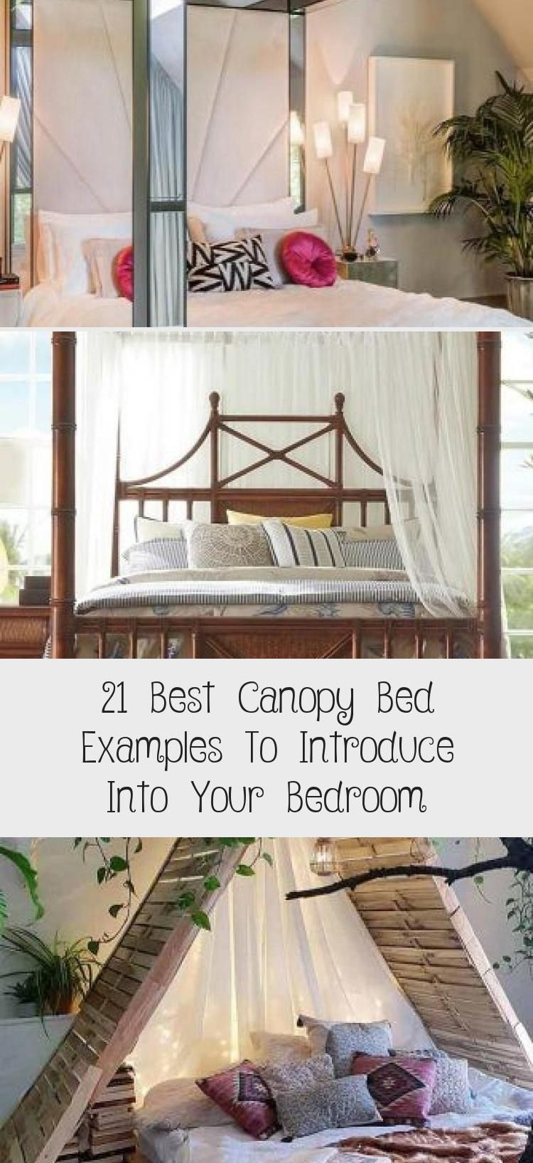 21 Best Canopy Bed Examples To Introduce Into Your Bedroom Boho Bedroom Design With Rustic Bed  Best canopy beds ideas modern and rustic girly and boho style with lights...
