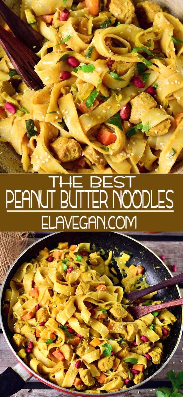 The Best Peanut Butter Noodles #healthyweeknightmeals