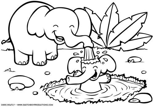 Jungle Animals Coloring Pages 19 Pictures Colorinenet 18808