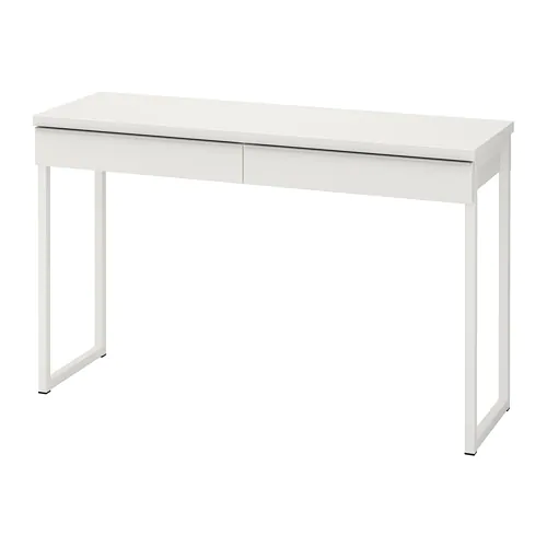 BESTÅ BURS Desk, high gloss white, 47 1/4x15 3/4