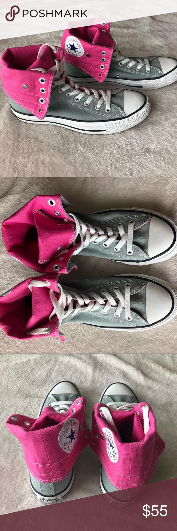 849ea7200b20 NWOT Pink   Gray High-Top