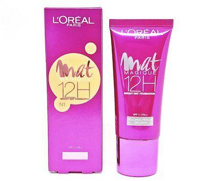 L Oreal Paris Mat Magique 12h Bright Mat Foundation N1 Loreal Paris Makeup Base Loreal