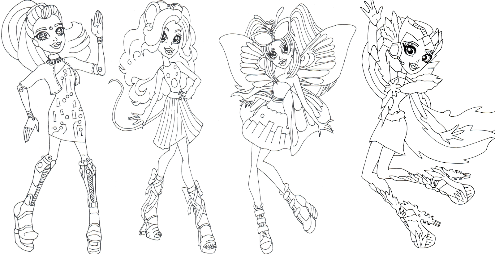 Pin By Kitten Weatherly On 2 Color Monster High