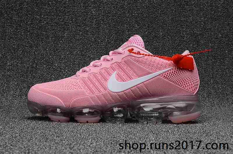 reputable site 60189 167fa Nike Air VaporMax 2018 KPU Pink White Women Shoes
