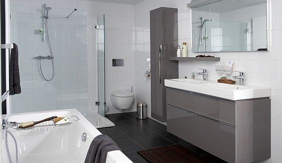 badkamer met sphinx materialen | badkamer ideeën | pinterest, Badkamer
