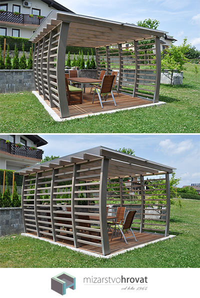 Perfect place for family gatherings! #pergona #wooddesign #woodencanopy #
