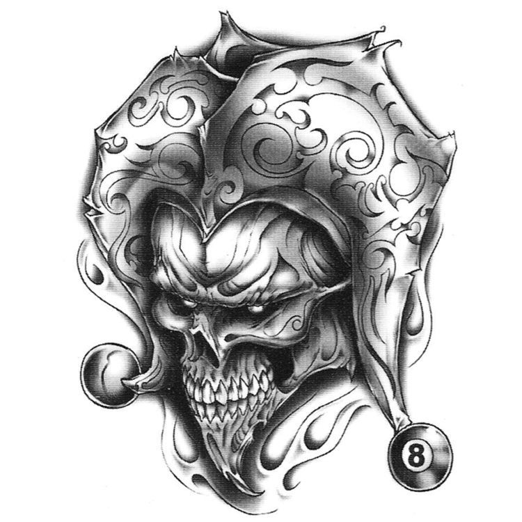 Jester Joker Skull Tattoo